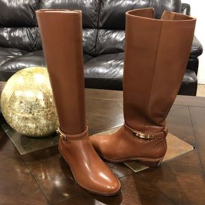 New  leather coach under the knee boots
